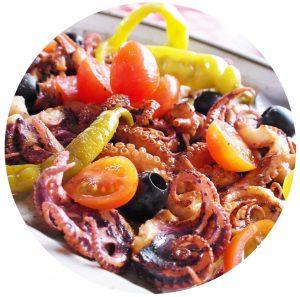 assiette d'antipasti aux fruits de mer